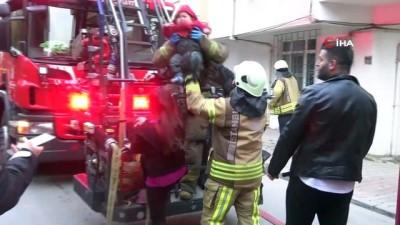 icmeler -  Apartmanın bodrumunda yangın çıktı, 3 çocuklu aile evde mahsur kaldı