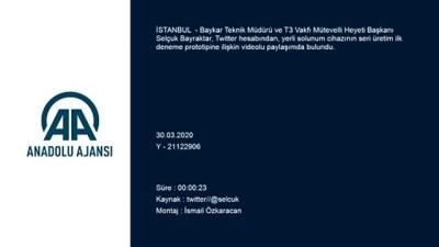 Selçuk Bayraktar'tan yerli solunum cihazı paylaşımı - İSTANBUL
