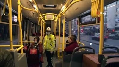 toplu tasima - Toplu taşıma araçlarında 'Sosyal mesafe denetimi' sürüyor