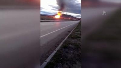 cep telefonu - Ağrı'da Türkiye-İran doğal gazboru hattında patlama