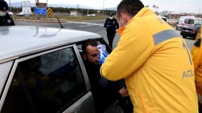 akarca - Ankara-Kayseri kara yolunda koronavirüs tedbirlerine yönelik denetim sürüyor - KIRŞEHİR