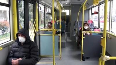 """toplu tasima -  İstanbul'da otobüs şoföründen ilginç """"korona virüs"""" önlemi"""