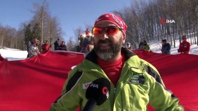 hain saldiri -  Kayak tutkunları İdlib için dev Türk bayrağıyla kaydı