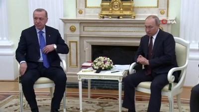 - Cumhurbaşkanı Erdoğan, Rus mevkidaşı Putin ile görüştü - Moskova'da İdlib Zirvesi başladı