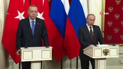 Putin: 'Kritik durumlarda her zaman elde edilen mutabakatlara dayanarak uzlaşabilmeyi başarabiliyorduk, çözümler üretiyorduk, bugün de öyle oldu