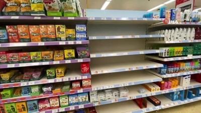 online alisveris -  - Londra'da marketlerde sağlık ve temizlik ürünü rafları boşaldı