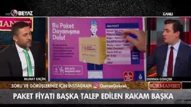 Osman Gökçek'ten İBB'nin yardım paketindeki fiyat çelişkisine dikkat çekti