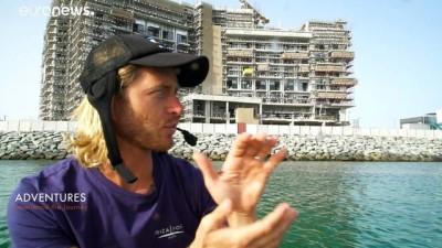 Dubai'de çılgın su sporu: E-foil ile denizin üstünde uçmak mümkün