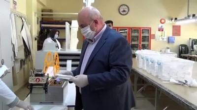 okul muduru -  Kız meslek lisesinden günlük 8 bin adet maske