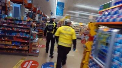 supermarket -  Marmaris'te marketlere sosyal mesafe denetimi