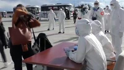 Yurt dışından Kars'a getirilen 104 Türk karantinaya alındı