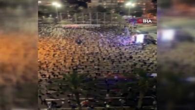 - İsrail Başbakanı Netanyahu'ya sosyal mesafeli protesto - Yaklaşık 2 bin kişi Tel Aviv'de sokağa döküldü