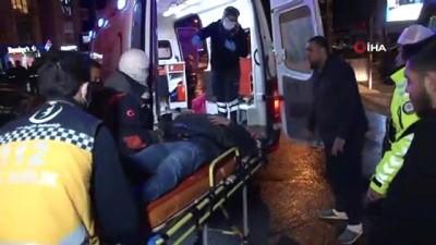 Otomobil ile kamyon çarpıştı, polis memuru yaralandı