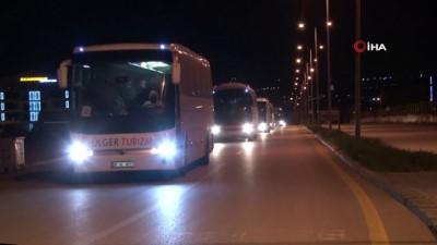 caga -  Almanya'dan getirilen 279 Türk vatandaşı ile 50 Alman uyruklu yolcu karantinaya alındı