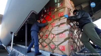 caga - ABD'ye Gönderilen Tıbbi Malzemeler Yola Çıktı
