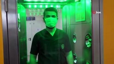 1 dakikada virüs ve bakterileri temizleyen kabin üretildi