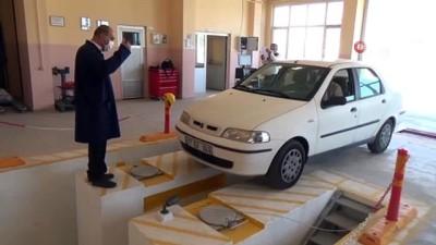 Türkiye'de bir ilk.. Meslek Lisesi'ne araç muayene istasyonu kurdular