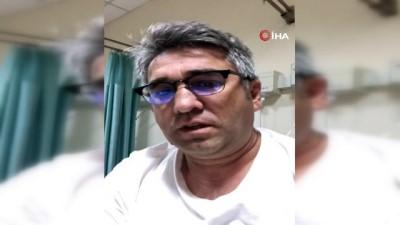 """Korona virüse yakalanan Osmaniyeli esnaf hastaneden çektiği video ile """"Evde kalın"""" çağrısı yaptı"""