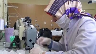 Tuzla'da halk eğitim merkezi görevlilerinden gönüllü maske üretimi