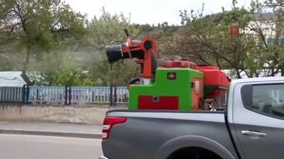 yerli uretim -  Başkent'te bir mahalle uçtan uca dezenfekte edildi