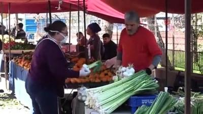 Yok Artık -  Adanalılar pazarda maske takma zorunluluğuna uymadı