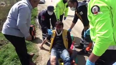 ambulans soforu -  Tokat'ta kalp krizi geçiren hastayı taşıyan ambulans devrildi:  4 yaralı