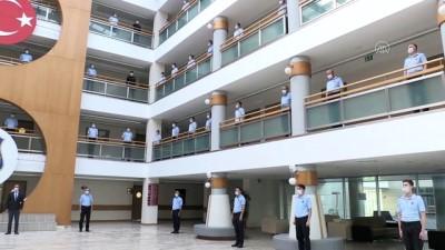 Ceza ve Tevkifevleri Genel Müdürlüğü Ankara Personel Eğitim Merkezi'nde İstiklal Marşı'nı okundu - ANKARA