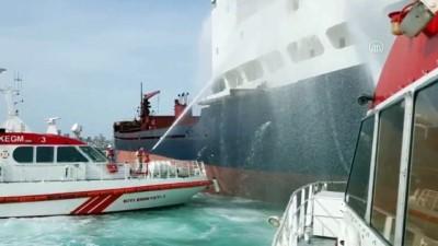 argo - Gemide çıkan yangın Kıyı Emniyeti tarafından söndürüldü - İSTANBUL