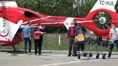 kalp krizi -  Kalp krizi geçiren şahıs ambulans helikopterle hastaneye yetiştirildi