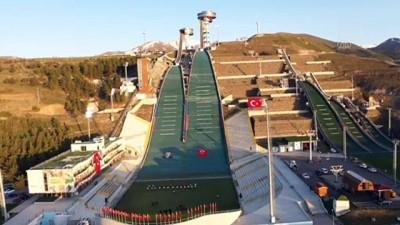 milli sporcular - Olimpiyat sporcuları, 19 Mayıs'ı atlama kulelerinde İstiklal Marşı okuyarak kutladı (3) - ERZURUM