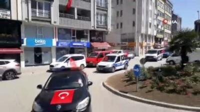 Terme'de 19 Mayıs gençlik konvoyu