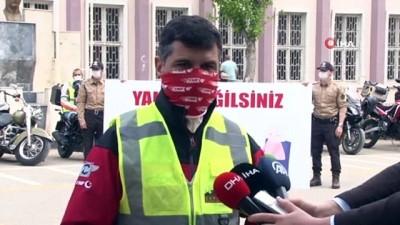 Türkiye'nin en kalabalık gönüllü motorize ekibi Çankaya'da yaşlıları yalnız bırakmadı