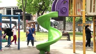 basketbol -  14 yaş altı çocuklar park ve yeşil alanlarda eğlendi