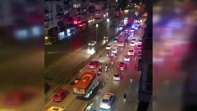 Antalya' da 19 Mayıs coşkusu binalara yansıdı