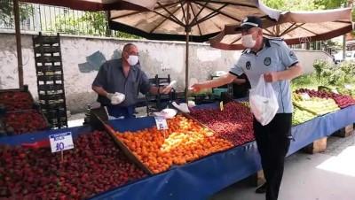 yardim kampanyasi - Başkentte 150 bin liralık sebze ve meyve, pazara gelenlere ücretsiz dağıtıldı - ANKARA