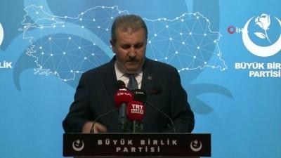 """siyasi partiler -  BBP Genel Başkanı Destici: """"Memleket masası TBMM'dir"""""""