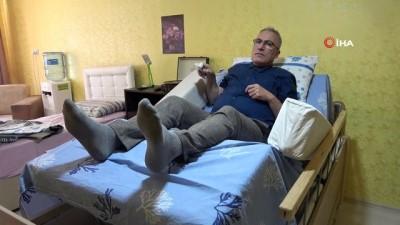 Hasta yatağında aklına koydu, iş yerinin terasında yaptı
