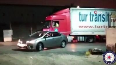 Bursa'da 500 bin liralık alkol yüklü tır böyle yakalandı
