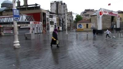 yagisli hava -  İstanbul'da rüzgar ve yağmur etkili oluyor