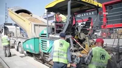 sanayi bolgeleri -  Başkent'te 77 bin 18 ton asfalt atıldı