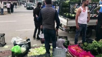 Bursa'da seyyar satıcı dehşeti...O anlar kamerada
