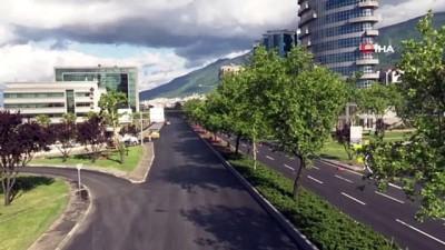 Bursa'da yollar yenilendi