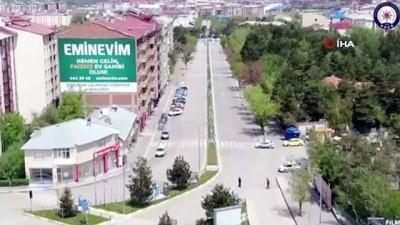 para cezasi -  Erzurum'da denetimler havadan görüntülendi