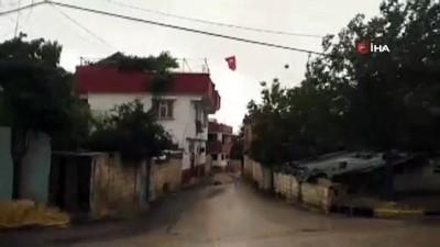 saganak yagis -  Yavuzeli'nde şiddetli rüzgar ve yağış