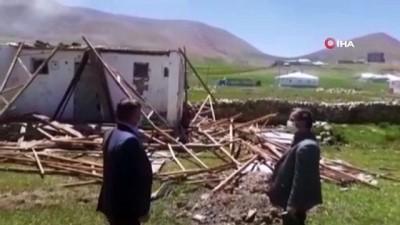 Çaldıran'da fırtınanın ardından hasar tespit çalışmaları devam ediyor