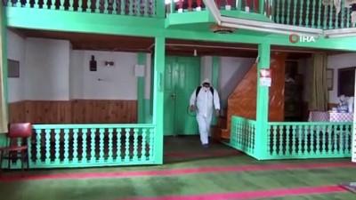 dezenfeksiyon -  Beypazarı'nda camiler ibadete hazır