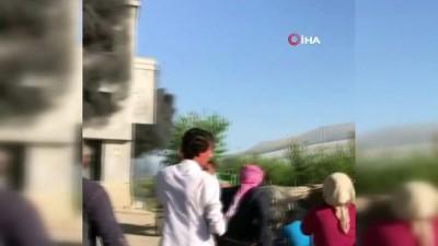 Tarsus'ta korkutan yangın kamerada