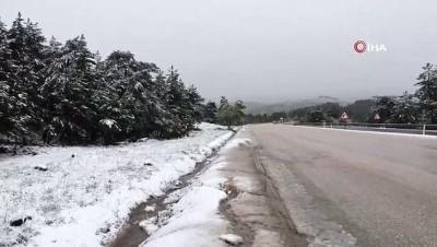 kar yagisi -  Ankara'nın yüksek kesimlerine Mayıs ayında kar yağdı