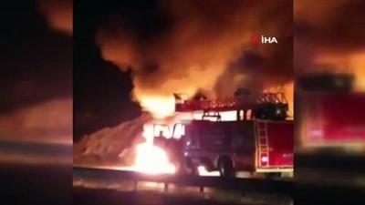 kamera -  Antalya'da araç alev alev yandı