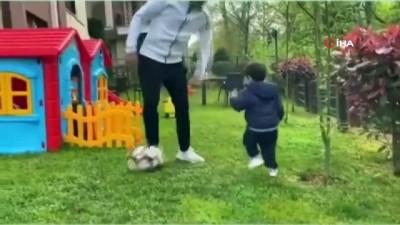 devre arasi - Guilherme'den karantinada oğluyla futbol keyfi